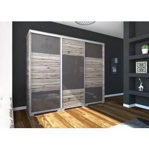 Nílus gardrób magasfényű ajtóbetéttel 239 cm