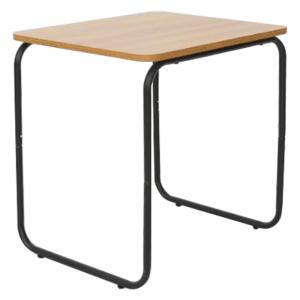 Kisasztal, tölgy/fekete, LAVERNE TYP 3