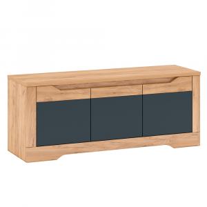 TV asztal J, tölgy craft arany/grafit szürke, FIDEL