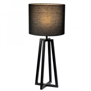 Asztali lámpa, fekete, QENNY 15