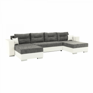 Univerzális ülőgarnitúra, fehér/szürkésbarna, ESSEN