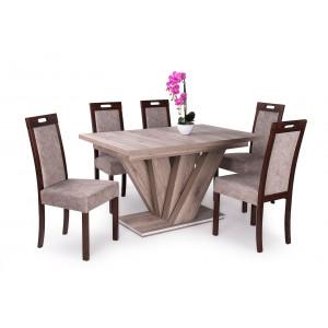 San remo asztal + dió - szürkésbarna szék