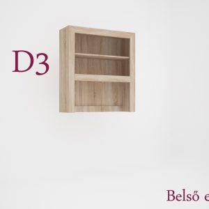 Dany tálaló felső vitrines elem 2 ajtós D3