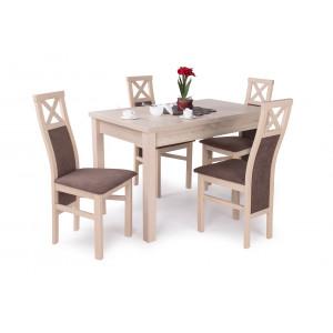 Sonoma tölgy asztal + sonoma tölgy székek
