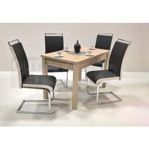 Sonoma tölgy asztal - fekete szék