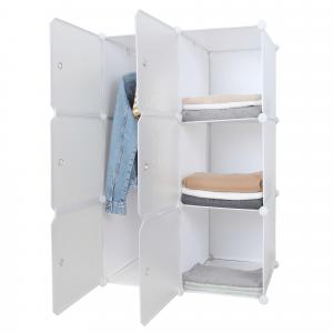Praktikus moduláris szekrény, fehér/mintás, ZERUS
