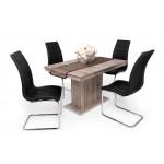 San remo asztal + fekete szék
