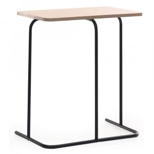 Kisasztal, tölgy/fekete, LAVERNE TYP 2