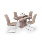 San remo asztal + sötét beige szék