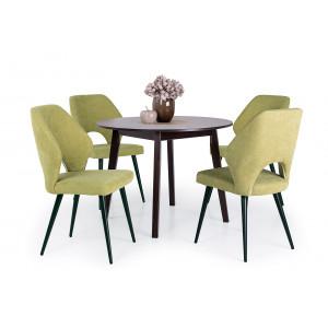 Wenge asztal - zöld szék