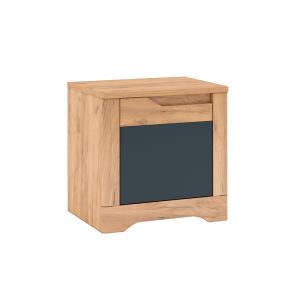Éjjeli szekrény, tölgy craft arany/grafit szürke, balos, FIDEL X1