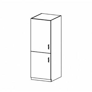 Szekrény a beépíthető hűtő számára D60ZL, balos, fehér/sosna Andersen, PROVANCE