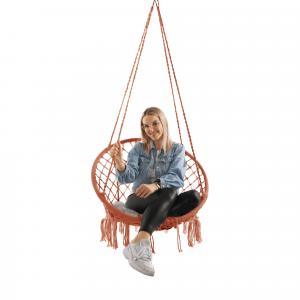 Függő szék, pamut+fém/bézs barna, AMADO 2 NEW