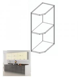 konyhabútor, szürke/bézs, extra magas fényű, PRADO