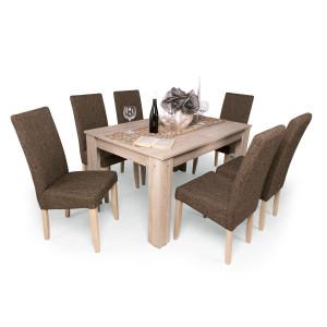 Berta étkező Félix asztallal sonoma - sötét szövet