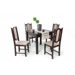 Lina étkező Berta asztallal-Wenge asztal-Dió szék