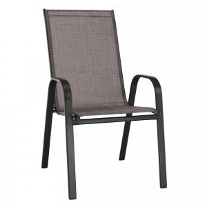 Rakásolható szék, barna melír/barna , ALDERA