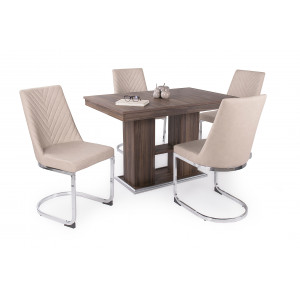 Bourbon tölgy asztal + beige szék
