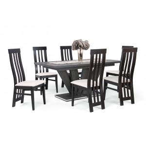 Canterbury asztal + wenge - fehér szövet