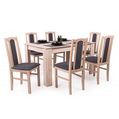 Sonoma tölgy asztal + sonoma tölgy szék