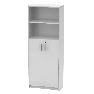 Irattartó zárható szekrénnyel, fehér, JOHAN 2 NEW 10