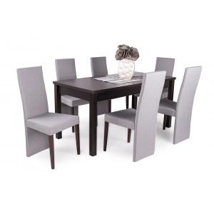 Wenge asztal + dió - szürke szék