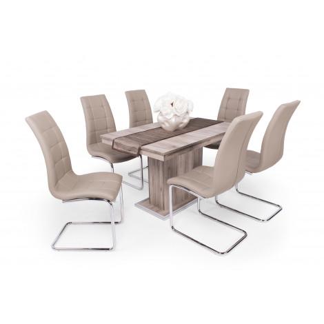 San remo asztal - sötét beige szék