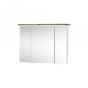 Tükrösszekrény,fehér/artisan tölgy, TOSKANA