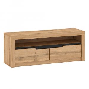 TV asztal B, tölgy craft arany/grafit szürke, FIDEL