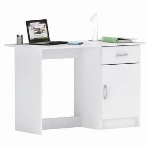 Univerzális számítógépasztal, fehér, SIRISS