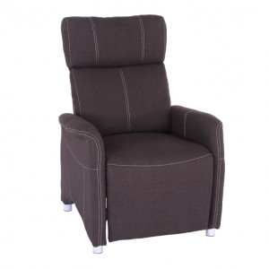 Állítható fotel, szövet csoki, FOREST