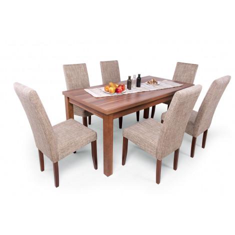 Magyar szilva asztal + magyar szilva - világosbarna szövet (MEGSZŰNT SZÍN)