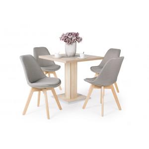 Sonoma tölgy asztal + szürke szék