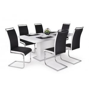 Fekete szék + rusztik fehér asztal