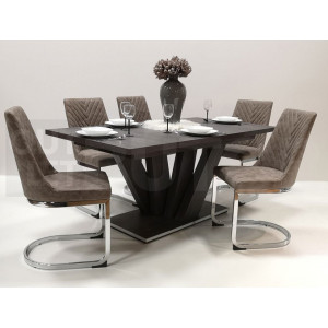 Canterbury asztal + barna szék