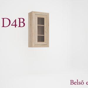 Dany tálaló felső vitrines elem jobbos/balos D4