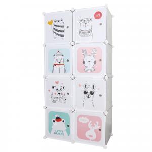 Gyerek moduláris szekrény, szürke/gyerek minta, ATREY