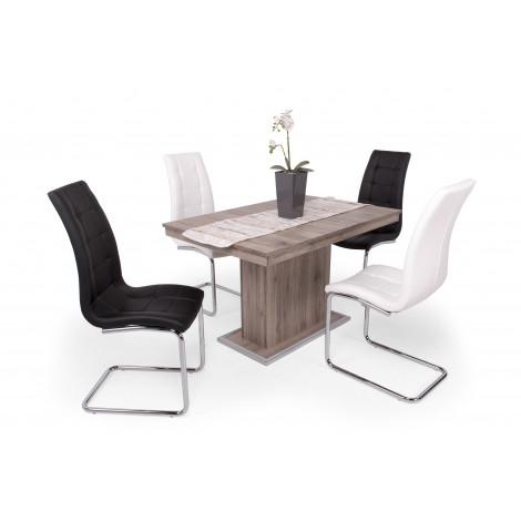 San remo asztal + fehér + fekete szék