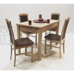 Sonoma tölgy asztal + sonoma tölgy - csokibarna szövet szék
