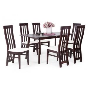 Wenge asztal + wenge - fehér szövet