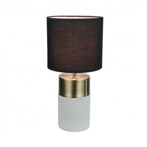 Asztali lámpa, világosszürke/fekete, QENNY TYP 20