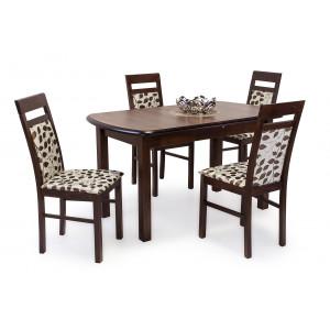 Mogyoró asztal + sötét dió szék