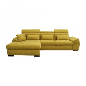 Ülőgarnitúra, mustárszínű, balos kivitel, NATIK NEW