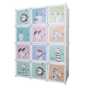 Gyerek moduláris szekrény, szürke/gyerek minta, HAKON