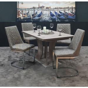 San remo asztal + barna szék